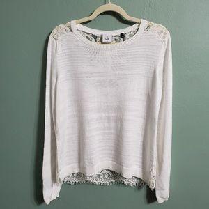 CAbi Lace Sophia Sweater Style 5005 Size Medium